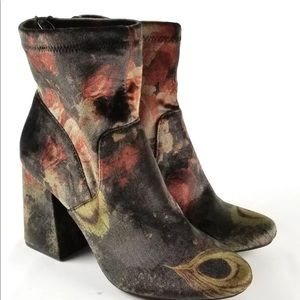 A New Day Velvet Boots Ankle Floral size  11